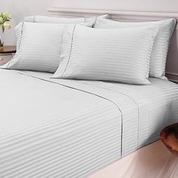 ARlinen 1 Bed Sheet Set 100% Egyptian Cotton 4-Piece Bed She