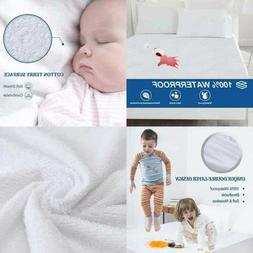 100% Waterproof Mattress Protector King Cotton Terry Surface