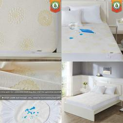 100% Waterproof Queen Mattress Protector Pad Covers Bamboo G