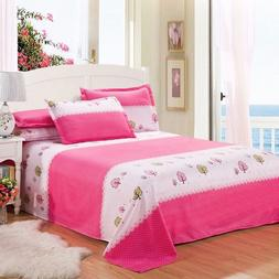 2019 Solid Color Waterproof Bed Sheet Queen King Size Flat S