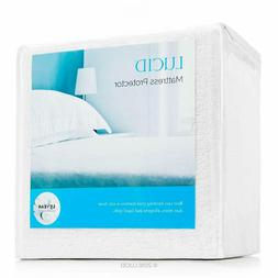 LUCID Queen Soft Cotton Mattress Protector Cover - Waterproo
