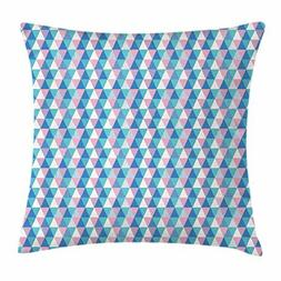 Abstract Triangle Throw Pillow Cushion Cover, Minimalist Sof