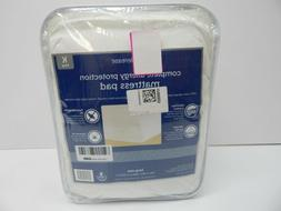 Aller-Ease Complete Allergy Protection Mattress Pad, King, W