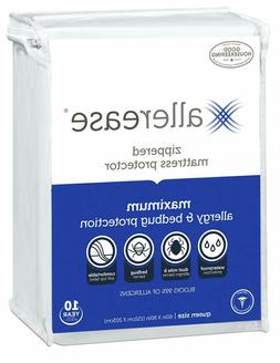 allerease maximum allergy and bedbug waterproof zippered