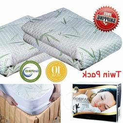 Bamboo Cotton Waterproof Mattress Cover Protector Full Queen