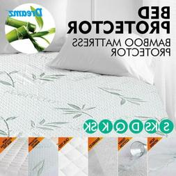 Mattress Cover Fitted Bed Protector Pad Topper Waterproof Ba