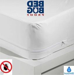 Waterproof + BedBug Proof Allergen Zippered Vinyl Mattress C