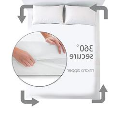 Safe and Sound Bed Bugs Mattress Encasement Waterproof Zippe