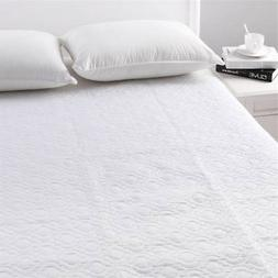 Bed Mattress Cover Waterproof Protector Ultrasonic Quilted S