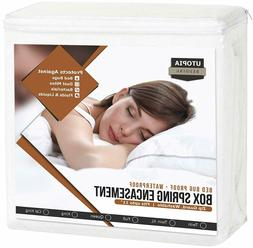 Box Spring Queen Encasement Bed Bug Proof Waterproof Cover U