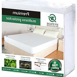 HYPNOS Queen Size Mattress Pad Protector - Premium Waterproo