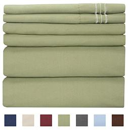 California King Size Sheet Set - 6 Piece Set - Hotel Luxury