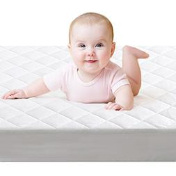 Crib Mattress Protector,BROLEX Baby Crib Mattress Cover,Whit