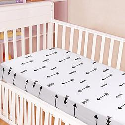 Kyapoo Crib Sheets 100% Cotton Arrows Unisex Bedding Style F