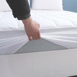 Deep Pocket Mattress Pad Cotton Top Quilted Snug Fit Machine