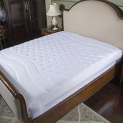Cooling Mattress Quilted Pad Hypoallergenic Protector Breath
