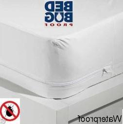 Full Size Bed Deluxe Vinyl Zippered Mattress Cover Keeps Out