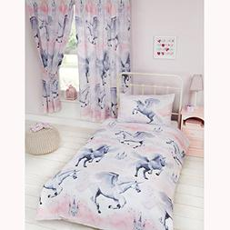 Stardust Unicorn Junior Duvet Cover and Pillowcase Set + Wat