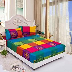 LVYING Elastic Mattress Cover Dazzle Colour Bed Skirt 2 Pill