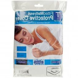 TJK Shop By Twin Size Fitted Protective Mattress Cover White