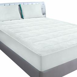 Utopia Bedding Fleece King Mattress Pad - Quilted Fitted Cal