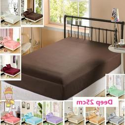 Free Shipping 100% Mulberry Silk Fitted Sheet <font><b>Deep<
