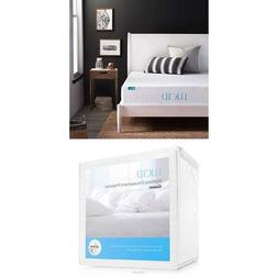 LUCID 10 Inch Gel Infused Memory Foam Mattress - Medium Plus