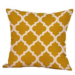 Sunhusing Geometric Linen Mustard Hug Pillow Case Yellow Fal
