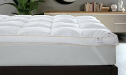 Goose Feather Down Mattress Topper Enhancer Luxury 9cm Bed P