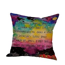 Sunhusing Happy Halloween Pillow Case Linen Sofa Pumpkin Gho
