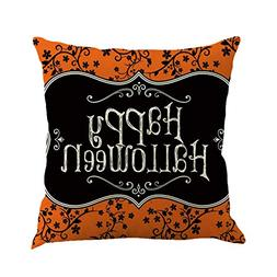 Sunhusing Happy Halloween Pumpkin Castle Linen Pillow Cushio