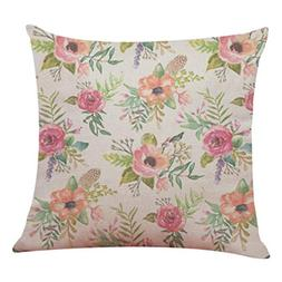 Sunhusing Hello Spring Sofa Throw Pillow Case Home Decor Cus