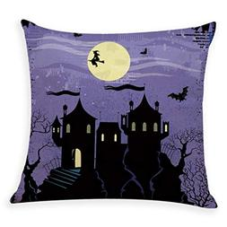 Kasenxet Home Decor Cushion Cover Happy Halloween Party Thro