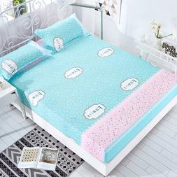 Home Textile 1pc Bed Sheet Four Corners with Elastic Band 10