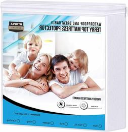 Waterproof Mattress Protector Breathable Fitted Around Elast