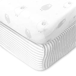 Cuddly Cubs Baby Crib Mattress Sheets Set | 2 Pack Crib Fitt
