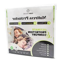 Full Size Bamboo Mattress Protector Waterproof, Hypoallergen