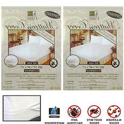 2X King Size Mattress Cover Zippered Fabric Protect Bed Dust