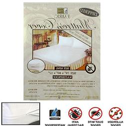 6X King Size Mattress Cover Zippered Fabric Protect Bed Dust