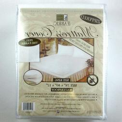 King Size Mattress Cover Zippered Fabric Protector Bed Dust