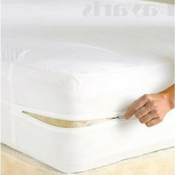 Queen Size Zippered Mattress Protector Waterproof Hypoallerg
