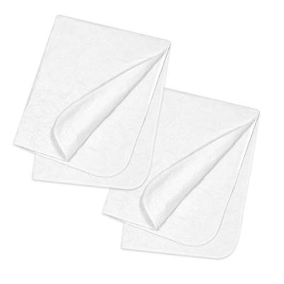 2 piece water resistant protector pads white