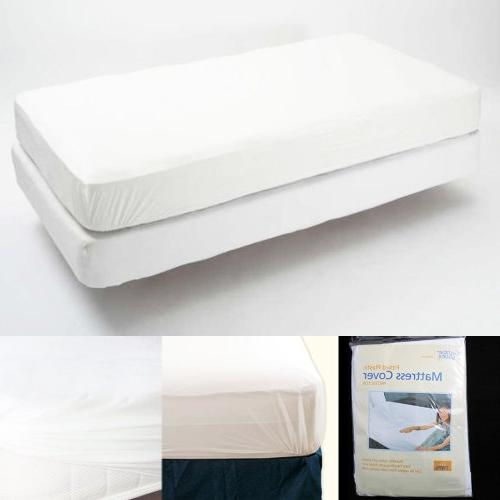 Twin Size Fitted Mattress Cover Vinyl Waterproof Bed