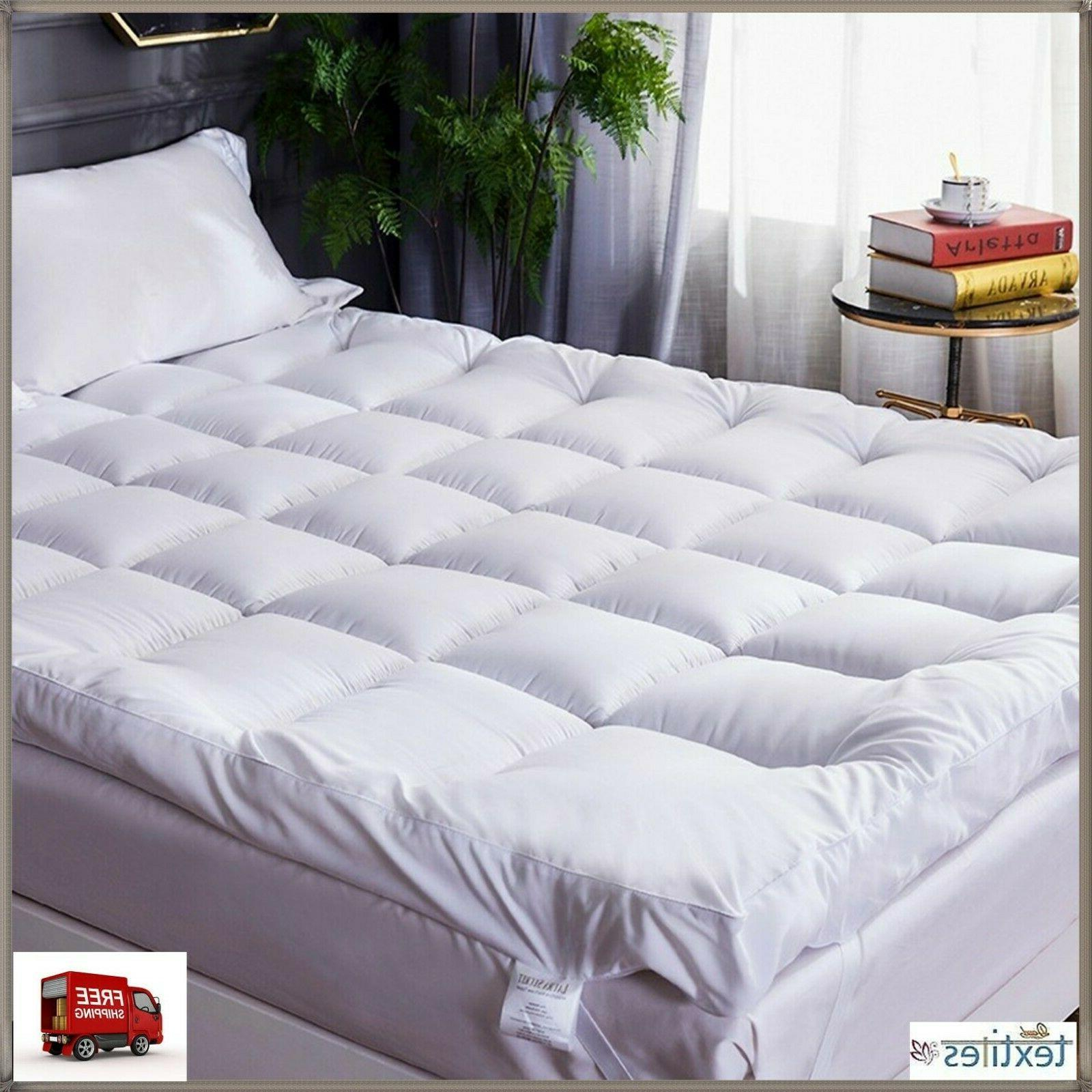 4'' SUPERSOFT THICK MICROFIBER MATTRESS TOPPER/MATRESS PROTE