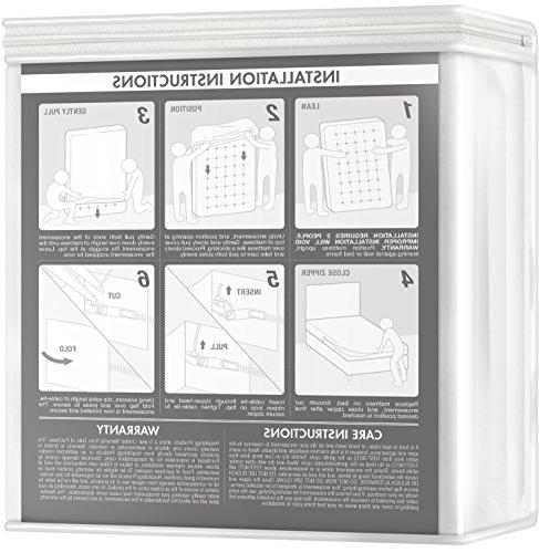 HOSPITOLOGY PRODUCTS System Bug/Dust Mites Mattress & Protector 80-Inch, 12""