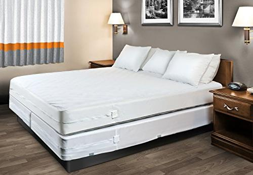 HOSPITOLOGY PRODUCTS Sleep System Waterproof/Bed Mattress Protector 60-Inch by 80-Inch, Queen - 12""