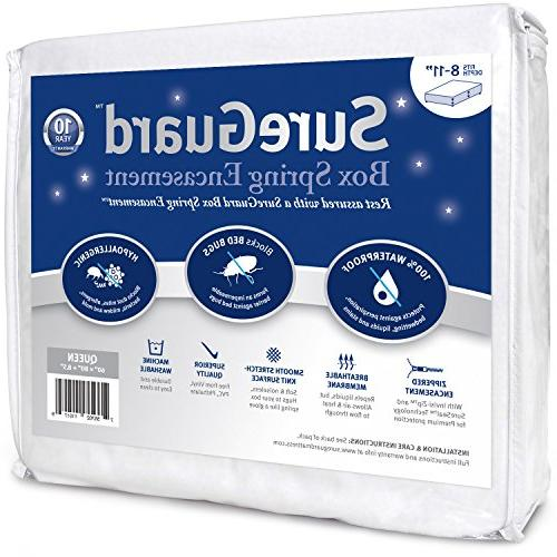 Queen Size SureGuard Box Spring Encasement - 100% Waterproof