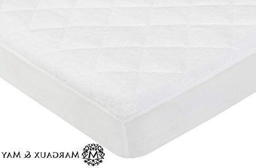 Ultra Mattress From Bamboo Rayon Margaux Fitted Quilted Mattress Pad High Absorbency and Protection