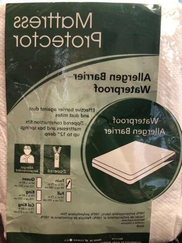 aller ease allergy mattress protector waterproof cover
