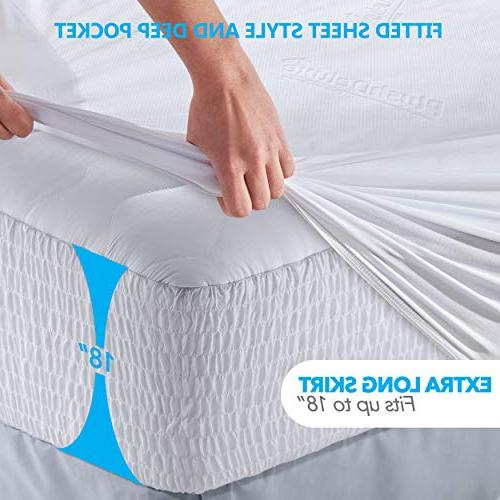 PlushDeluxe Bamboo Protector – Waterproof, Hypoallergenic & Breathable Bed Cover Protection Phthalate & Vinyl-Free